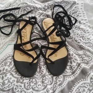 Sam Edelman Suede Lace Up Sandals